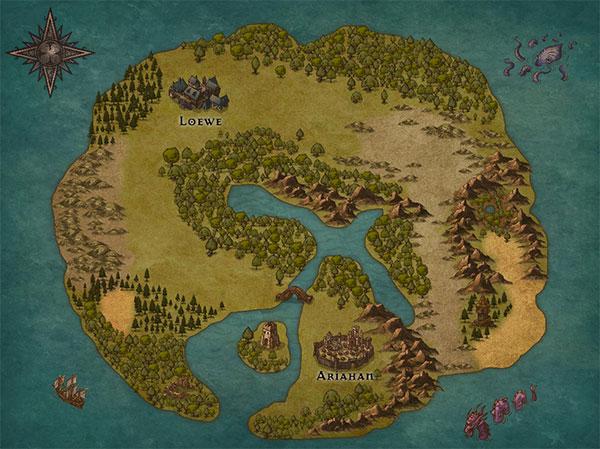 inkarnateで作ったマップ