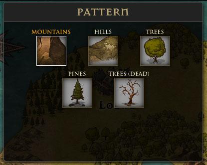 inkarnateの山や木